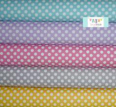 Basic Small Dots Half Yard Bundle, $23.75, Skye Reve Fabrics Fabric Suppliers, Buy Fabric, Sewing Crafts, Dots, Fabrics, Yard, Stitches, Tejidos, Patio