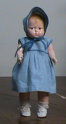"Effanbee 12"" Baby Grumpy Composition Cloth Doll - Redressed"