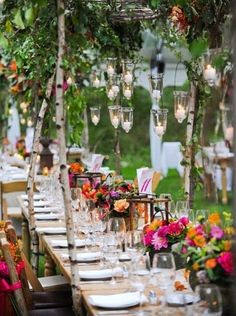 Outdoor reception candle lighting