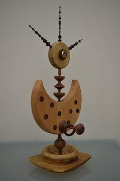 Handmade decorative sculpture mainly carved on lathe. #woodworking #woodturning #woodart #sculpture #art