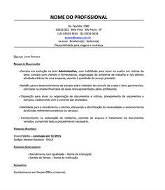 Modelo De Curriculum Simples Para Primeiro Emprego Curriculo