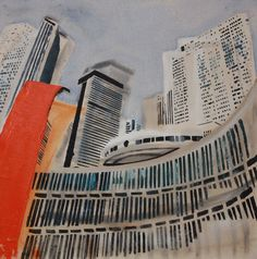 Tracy Fitzgerald Cityscape, 2012 Painting Contemporary Landscape, Landscapes, Artist, Painting, Paisajes, Scenery, Artists, Painting Art, Paintings