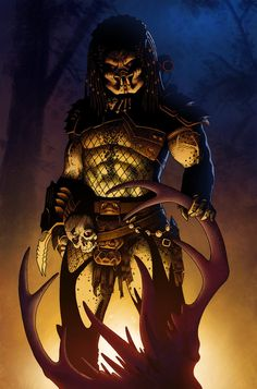 Predator by Jedi-Art-Trick on deviantART Predator Hunting, Predator Movie, Alien Vs Predator, Predator Cosplay, Alien Races, Alien Art, Science Fiction Art, The Villain, Dark Horse