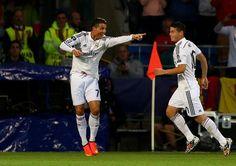 La drôle de tête de Cristiano Ronaldo pour remercier Benzema - http://www.actusports.fr/115542/drole-tete-cristiano-ronaldo-remercier-benzema/