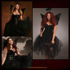 Love this Sexy Fallen Angel Plus Size Corset Costume! http://halloweenideasforwomen.com/sexy-plus-size-corset-costumes/