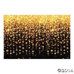 """$16 - Celebration Lights Backdrop - photo backdrop will make it look like strands of lights are hanging in the background of your photo for a bright and elegant touch. Great for DIY photo booths, Christmas parties, New Year's Eve events and more! Plastic. Includes 3 panels to make one backdrop. Assembled, 108"""" x 72""""."""