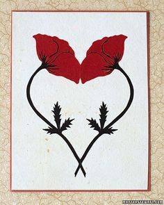12 paper flower cutouts from martha stewart... and poppies!