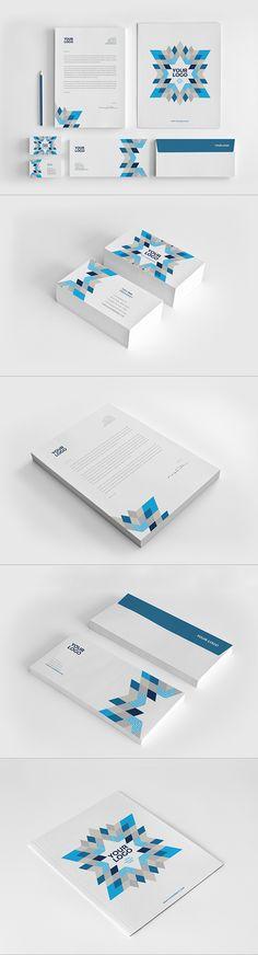 Modern Blue Stationery. Download here: http://graphicriver.net/item/modern-blue-stationery/11860746?ref=abradesign #stationery #design #branding