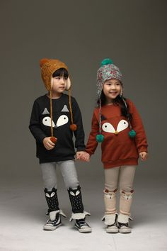 Foxy Sweatshirts and Leggings Set. Cool kids fashion, play ready style at Color Me WHIMSY.