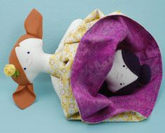 Trixie and Tess: A Topsy Turvy Doll - PDF Sewing Pattern #sew