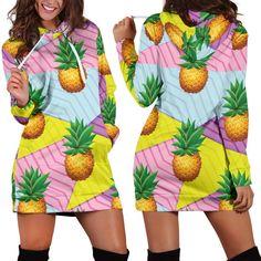 Pineapple Pattern Woman Hoodie Dress Rectangle Area, Pineapple Pattern, Hoodie Dress, High Definition, Print Design, Print Patterns, Rug, Woman, Hoodies