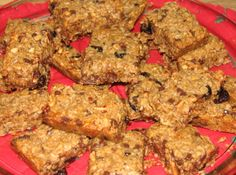 Healthy breakfast bars - tried them omitting brown sugar, increasing vanilla & almond extract and replacing butter with coconut oil. I also added a little flax meal. Pretty yummy and filling.