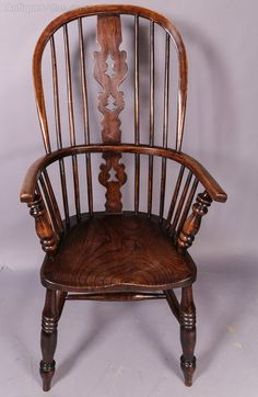 High Back Ash Windsor Chair - Antiques Atlas