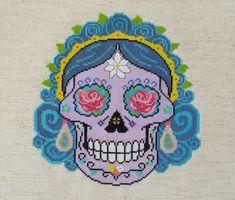 CATALINA Sugar Skull Day of the Dead Cross by HanksPatternPlace
