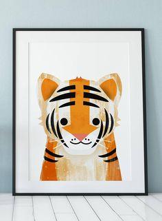 Tiger Print large wall art Tiger Art Printable Art Kids