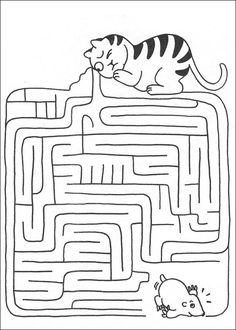 Jeu du labyrinthe à imprimer                                                                                                                                                                                 Plus Maze Worksheet, Tracing Worksheets, Preschool Worksheets, Mazes For Kids Printable, Puzzles For Kids, Cardboard Crafts Kids, Early Finishers Activities, Hidden Pictures, Picture Puzzles