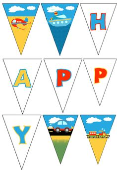 Free printable banner - transportation party