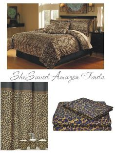 leopard print bedding | Check out all of the fun leopard items … WILD !!