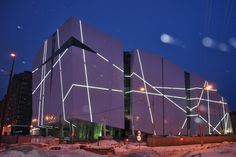 Vershina Trade & Entertainment Centre - Surgut, Russia; state-of-the-art trade and entertainment centre with space for retail, extreme sports, dance, restaurants, bars and an underground night club; designed by Erick van Egeraat
