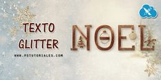 Texto Glitter (especial Navidad) Photoshop Tutorial - Aprende Photoshop