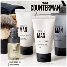 Our first-ever skin care line for guys has arrived! Five all-new productsu work hard to hydrate, soothe and boost his skin's resilience without compromising safety. All Counterman products feature sustainability harvested Sequoia Stem Cell Complex , which helps protect skin from everyday stress. Get them while they last!!