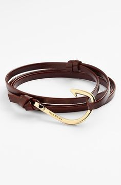 Miansai Gold Hook Leather Bracelet available at #Nordstrom