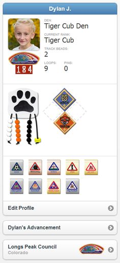 Coolest tracking site ever! Scoutbook.com - Cub Scout and BSA Boy Scout Advancement Tracking Software for Scouts, Families, Dens and Patrols