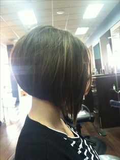 If I ever chop my hair off I'd want this awesome angled bob.