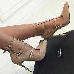 ae9533bd08f T-Strap Cutout Pointed Toe Heels