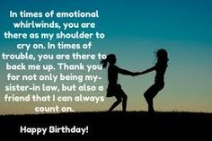 happy birthday message for future sister in law