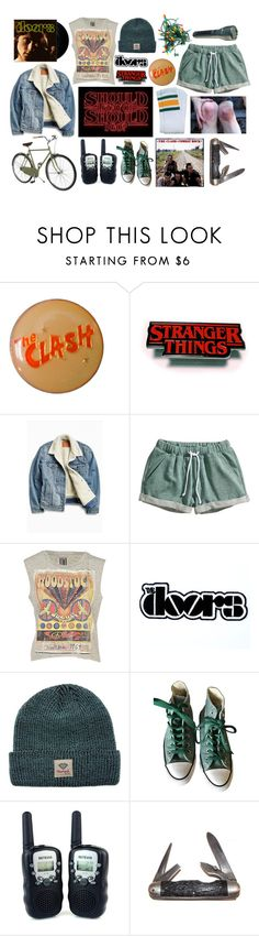 """""""Stranger Things"""" by satanic-lullaby ❤ liked on Polyvore featuring Levi's, H&M, Diamond Supply Co., Converse, Market and Retrò"""