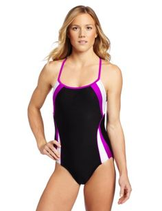 Speedo Women's Spiral Splice Clip Back Swimsuit « Clothing Adds Anytime