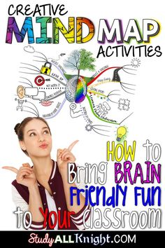 Using a mind map is a great way to get your upper elementary, middle school, & high school students engaged in learning! It allows students to doodle while adding pictures & visuals to their work. It's an inspiring & logical way to engage students in note taking. It also maps out ideas so they can recall material! Use this post to learn all about creative mind map lessons & how they can help students with brainstorming, problem-solving, memorization, planning, researching, presenting…
