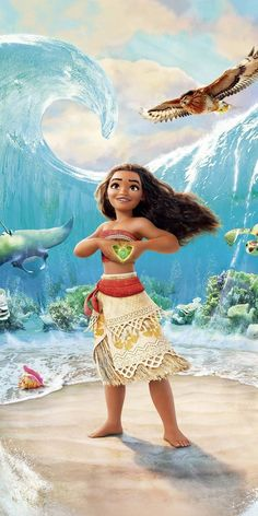 Discovered by Find images and videos about wallpaper, disney and ocean on We Heart It - the app to get lost in what you love. Disney Princess Pictures, Disney Princess Art, Disney Pictures, Disney Art, Punk Disney, Disney Movies, Disney Characters, Kawaii Disney, Moana Disney