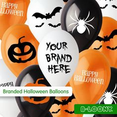 Bespoke printed and branded balloons for Halloween!  #balloons  #halloween  #custommade  #madetoorder  #printedballoons  #advertising  #marketing  #promotion  #promotional  #promotionalproducts