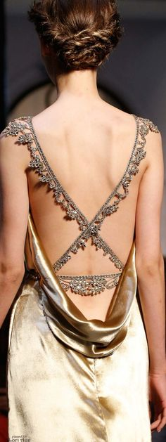 Schiaparelli Couture Fall 2015 beautiful back detail