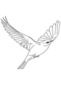 bird to color bird coloring pages birds applique