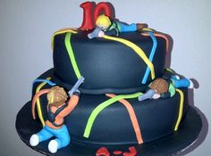 Laser quest cake by Cakes so cool, via Flickr