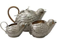 Sterling Silver Three-Piece Tea Service - Antique Victorian. Price: GBP £5,950.00.