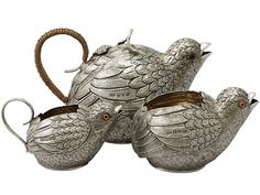 Sterling Silver Three Piece Tea Service - Antique Victorian  SKU: A4688 Price  GBP £5,950.00  http://www.acsilver.co.uk/shop/pc/Sterling-Silver-Three-Piece-Tea-Service-Antique-Victorian-50p8339.htm