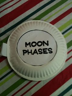 Moon Phases paper plate book.