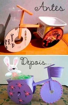 Ideas for diy kids crafts recycle old cds Kids Crafts, Easter Crafts, Diy And Crafts, Arts And Crafts, Art N Craft, Craft Stick Crafts, Diy Art, Craft Ideas, Diys