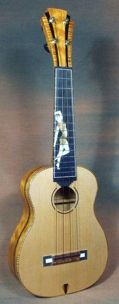 Art Deco-themed concert ukulele from Pohaku $3000
