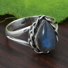 LABRADORITE SOLID 925 STERLING SILVER RING 4.88g DJP5626 #Handmade #Ring