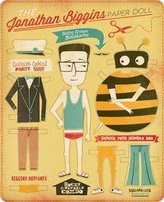 Ben's Illustrations: Jonathan Biggins' life in threads