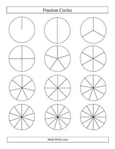 Colorful Fraction Circles Worksheets - colorful fraction circles ...