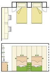 Camera da letto con cabina armadio e bagno | Baños | Pinterest ...