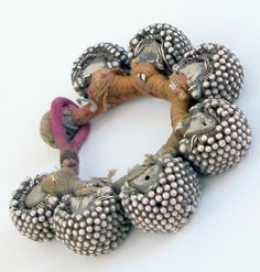 India   Old 'Gajare kee ponch' silver bracelet from Rajasthan. ca. early 1900s   890$