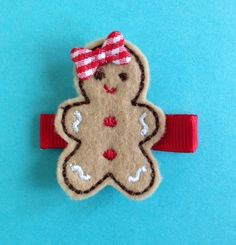 gingerbread girl hair clip