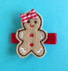 gingerbread girl hair clip